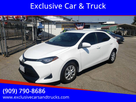2017 Toyota Corolla for sale at Exclusive Car & Truck in Yucaipa CA