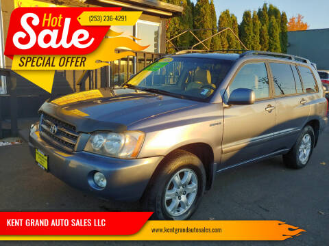 2003 Toyota Highlander for sale at KENT GRAND AUTO SALES LLC in Kent WA