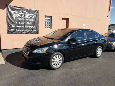 2015 Nissan Sentra for sale at ENZO AUTO in Parma OH