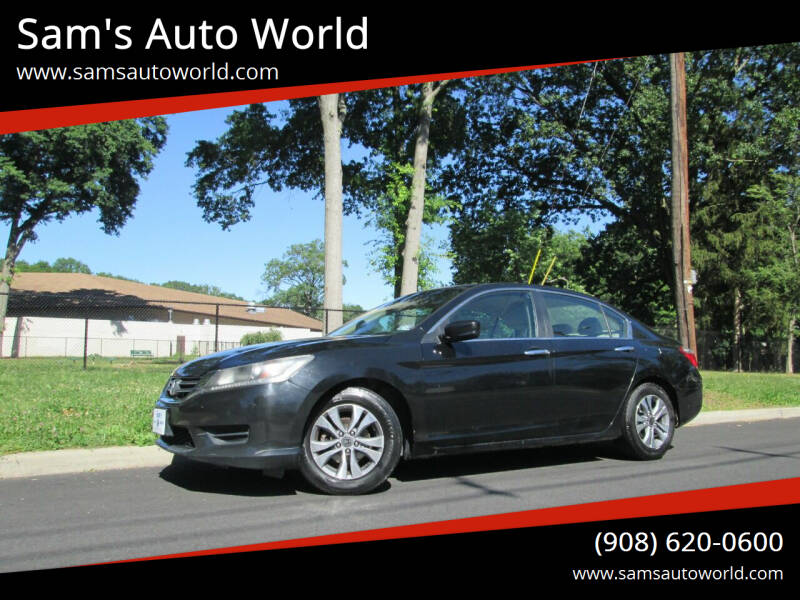 2014 Honda Accord for sale at Sam's Auto World in Roselle NJ