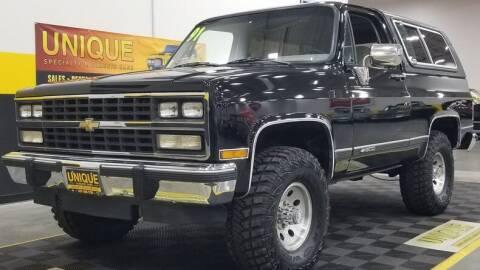1991 Chevrolet Blazer for sale at UNIQUE SPECIALTY & CLASSICS in Mankato MN