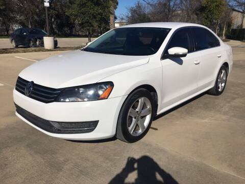 2013 Volkswagen Passat for sale at Safe Trip Auto Sales in Dallas TX