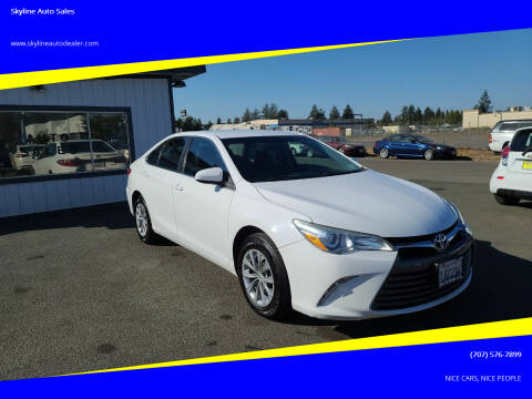 2016 Toyota Camry for sale at Skyline Auto Sales in Santa Rosa CA