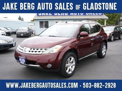 2006 Nissan Murano for sale at Jake Berg Auto Sales in Gladstone OR