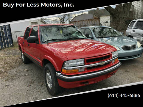 2002 Chevrolet S-10 for sale at Buy For Less Motors, Inc. in Columbus OH