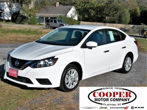 2019 Nissan Sentra for sale at Cooper Motor Company in Clinton SC