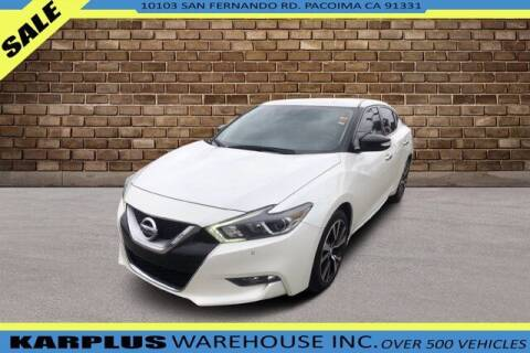2016 Nissan Maxima for sale at Karplus Warehouse in Pacoima CA