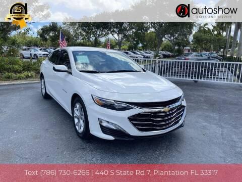 2019 Chevrolet Malibu for sale at AUTOSHOW SALES & SERVICE in Plantation FL