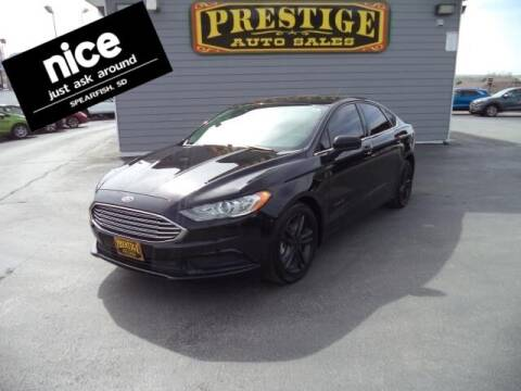 2018 Ford Fusion Hybrid for sale at PRESTIGE AUTO SALES in Spearfish SD