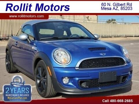 2014 MINI Coupe for sale at Rollit Motors in Mesa AZ
