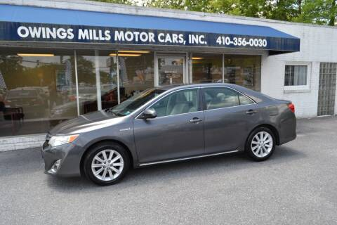 2013 Toyota Camry Hybrid for sale at Owings Mills Motor Cars in Owings Mills MD