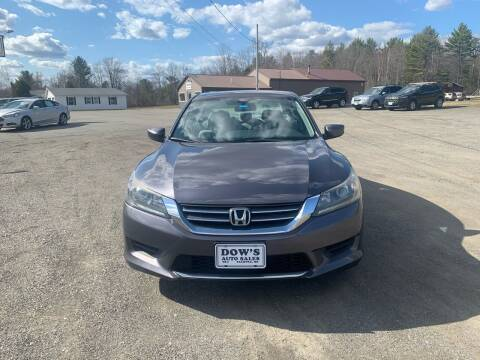 2014 Honda Accord for sale at DOW'S AUTO SALES in Palmyra ME
