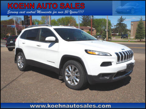 2015 Jeep Cherokee for sale at Koehn Auto Sales in Lindstrom MN
