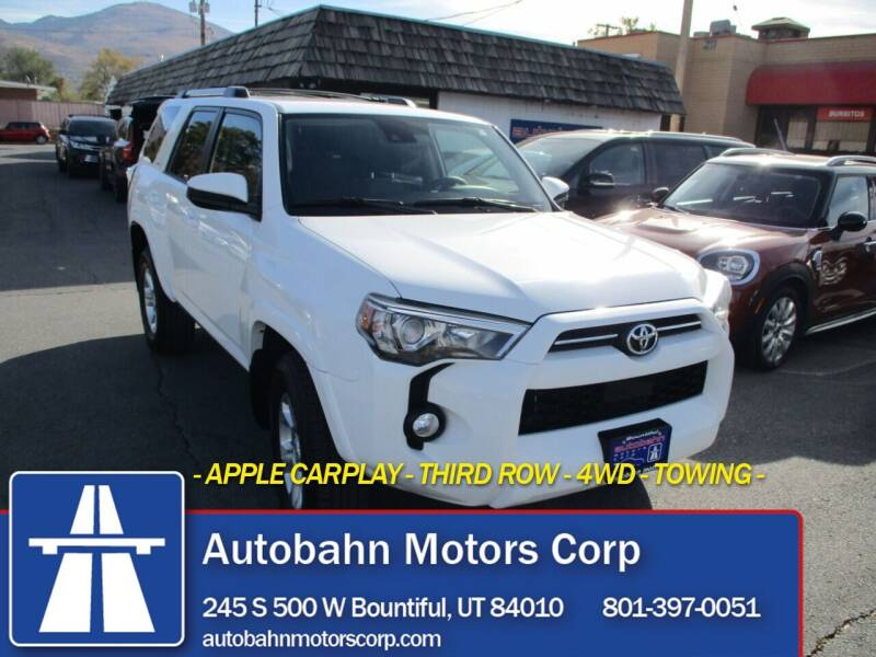 2020 Toyota 4Runner for sale at Autobahn Motors Corp in Bountiful UT
