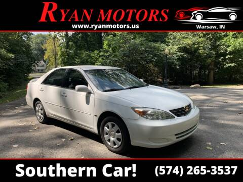 2002 Toyota Camry for sale at Ryan Motors LLC in Warsaw IN