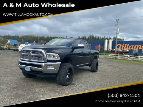 2017 RAM Ram Pickup 2500 for sale at A & M Auto Wholesale in Tillamook OR