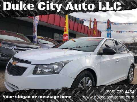 2014 Chevrolet Cruze for sale at Duke City Auto LLC in Gallup NM