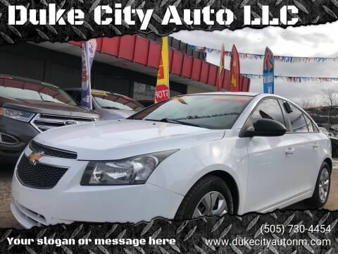 2014 Chevrolet Cruze for sale at Duke City Auto LLC in Gallup NM