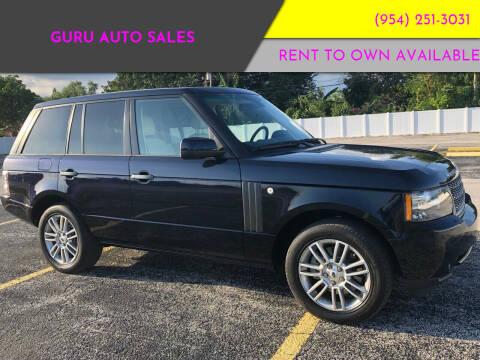 2010 Land Rover Range Rover for sale at Guru Auto Sales in Miramar FL