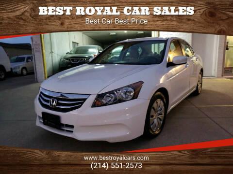 2012 Honda Accord for sale at Best Royal Car Sales in Dallas TX