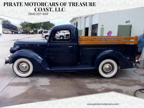 1938 Ford F-150 for sale at Pirate Motorcars Of Treasure Coast, LLC in Stuart FL