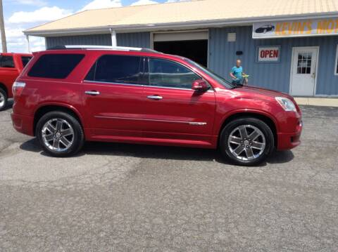 2012 GMC Acadia for sale at Kevin's Motor Sales in Montpelier OH