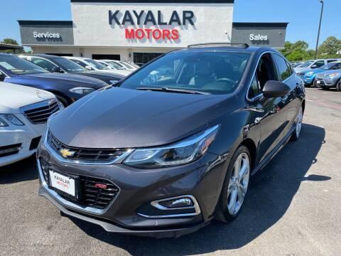 2017 Chevrolet Cruze for sale at KAYALAR MOTORS in Houston TX