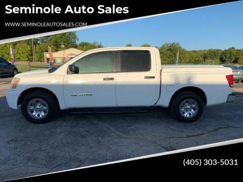 2006 Nissan Titan for sale at Seminole Auto Sales in Seminole OK
