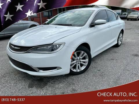 2017 Chrysler 200 for sale at CHECK AUTO, INC. in Tampa FL