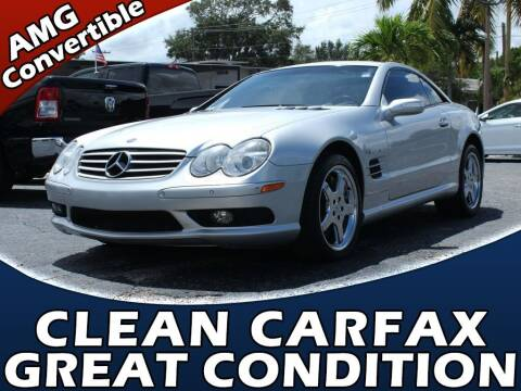 2004 Mercedes-Benz SL-Class for sale at Palm Beach Auto Wholesale in Lake Park FL