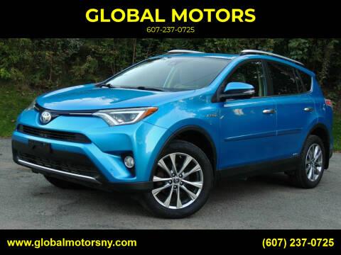 2016 Toyota RAV4 Hybrid for sale at GLOBAL MOTORS in Binghamton NY