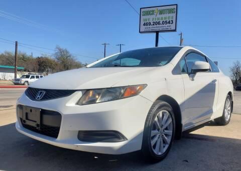 2012 Honda Civic for sale at Shock Motors in Garland TX