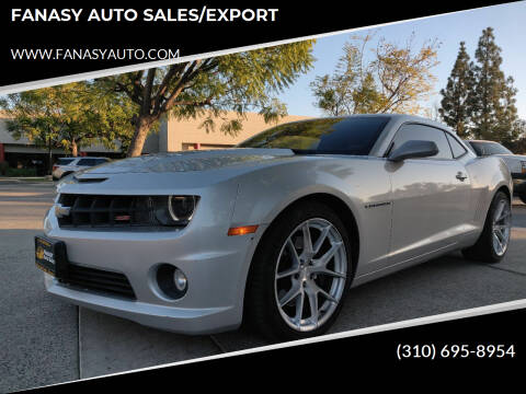 2013 Chevrolet Camaro for sale at FANASY AUTO SALES/EXPORT in Yorba Linda CA