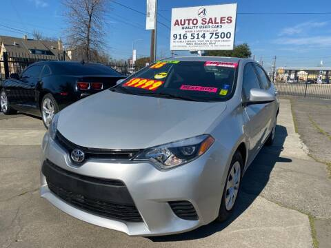 2016 Toyota Corolla for sale at A1 Auto Sales in Sacramento CA
