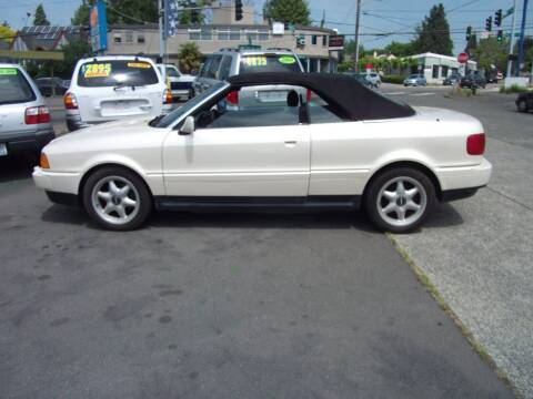 1998 Audi Cabriolet for sale at UNIVERSITY MOTORSPORTS in Seattle WA