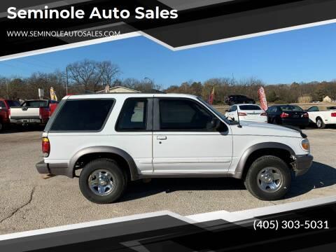 1997 Ford Explorer for sale at Seminole Auto Sales in Seminole OK