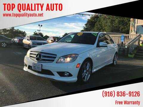 2010 Mercedes-Benz C-Class for sale at TOP QUALITY AUTO in Rancho Cordova CA