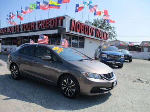 2015 Honda Civic for sale at Giant Auto Mart 2 in Houston TX