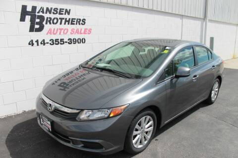2012 Honda Civic for sale at HANSEN BROTHERS AUTO SALES in Milwaukee WI