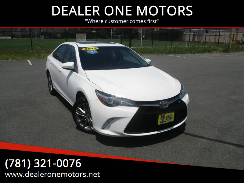 2015 Toyota Camry for sale at DEALER ONE MOTORS in Malden MA