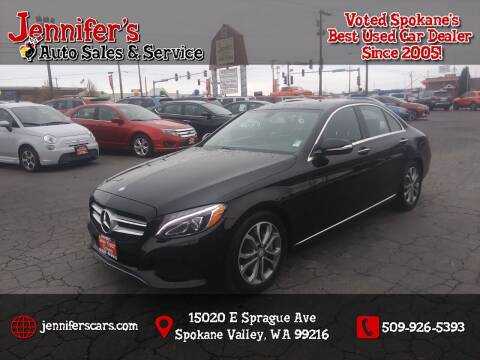 2015 Mercedes-Benz C-Class for sale at Jennifer's Auto Sales in Spokane Valley WA