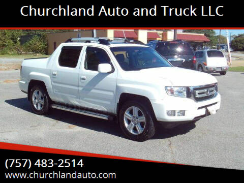 2009 Honda Ridgeline for sale at Churchland Auto and Truck LLC in Portsmouth VA