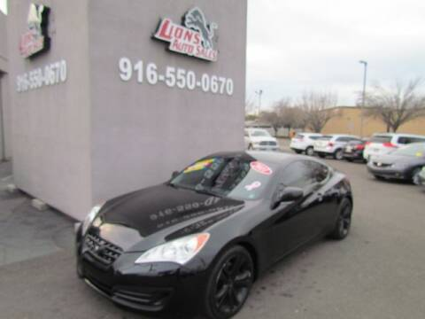 2011 Hyundai Genesis Coupe for sale at LIONS AUTO SALES in Sacramento CA