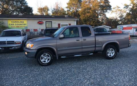 2001 Toyota Tundra for sale at Carolina Car Country in Little River SC