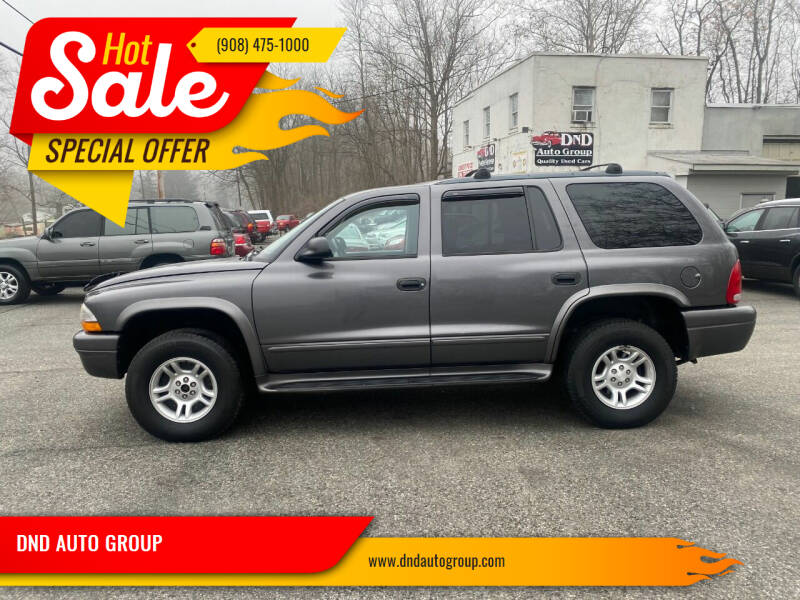 2003 Dodge Durango for sale at DND AUTO GROUP in Belvidere NJ