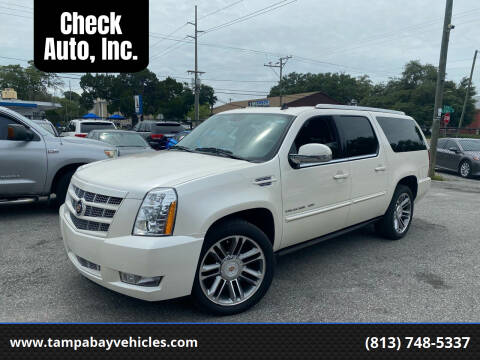 2013 Cadillac Escalade ESV for sale at CHECK  AUTO INC. in Tampa FL