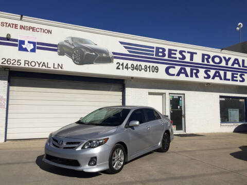 2011 Toyota Corolla for sale at Best Royal Car Sales in Dallas TX