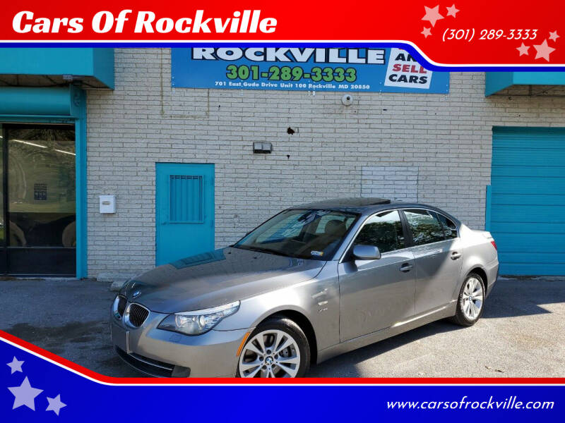 2010 BMW 5 Series for sale at Cars Of Rockville in Rockville MD