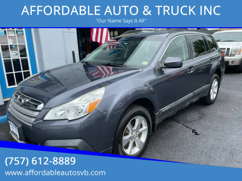 2014 Subaru Outback for sale at AFFORDABLE AUTO & TRUCK INC in Virginia Beach VA