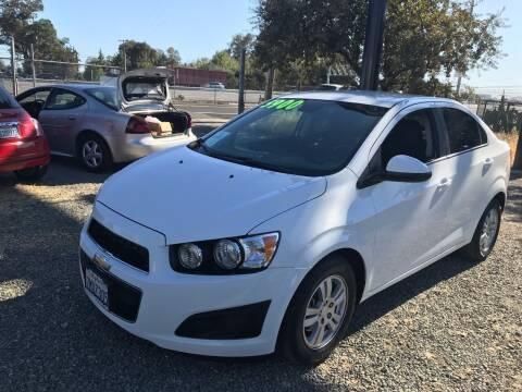 2013 Chevrolet Sonic for sale at Quintero's Auto Sales in Vacaville CA